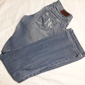 Maurices Jeans, Size 3/4 Boot Cut, Light Wash